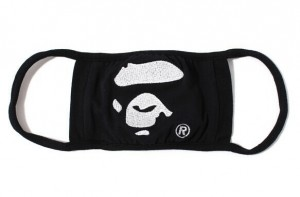 Free-shipping-100-original-hot-brand14AW-BAPE-APE-black-HEAD-MASK-Embroidery-cotton-winter-face-Mask1st