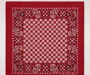 Louis-Vuitton-red-Damier-Bandana-scarf
