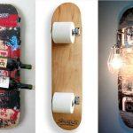 *スケートボードデッキをオシャレなインテリアにしよう!DIY!壁掛け間接照明*