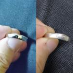 *2年間着け続けたCHANELの結婚指輪の傷や変色*